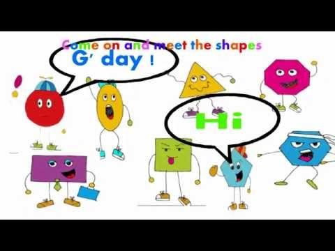 A song for children about 2D shapes. Learn the properties of 2D shapes with this fun song. Featuring a triangle, square, rectangle, circle, rhombus and many other 2d shapes. 2D shape pictures are from http://www.classroomfreebiestoo.com/ For more information visit my facebook page https://www.facebook.com/RockingDanTeachingMan or blog http://rockingdan.blogspot.com.au/