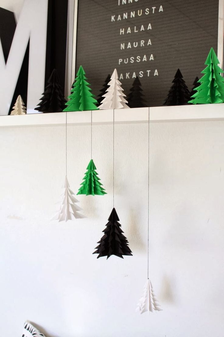 DIY: christmas tree origami