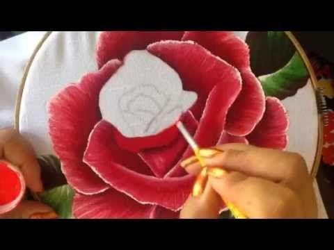 Pintura en tela servilleta deshilada # 6 con cony
