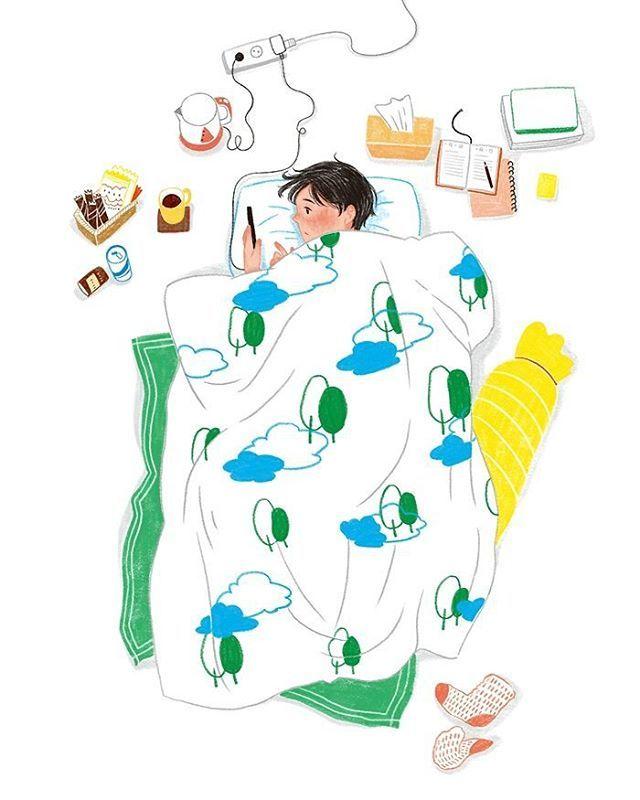 이불 폭 #illustagram #illustrator #illustration #illust #drawing #draw #digitalart #artwork #daily #someday #holiday #일러스트 #일러스트레이션 #그림 #일상 #휴식 #잠 #이불속 #이불밖은위험해