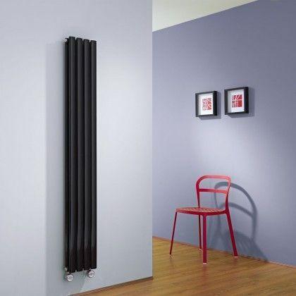 Milano Aruba Slim Electric - Black Space-Saving Vertical Designer Radiator 1600mm x 236mm (Double Panel) - http://www.bestheating.com/milano-aruba-slim-black-space-saving-vertical-electric-designer-radiator-1600mm-x-236mm-double-panel.html