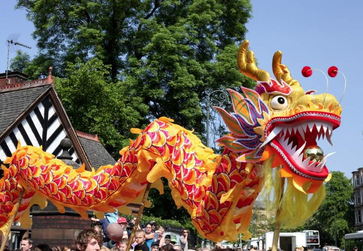 Chinese Dragons Parade 2 Wallpaper Background Hd | Puppet ...