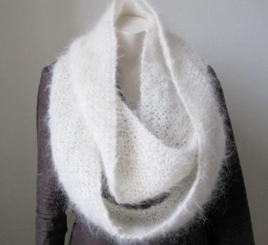 mohair cowel scarf