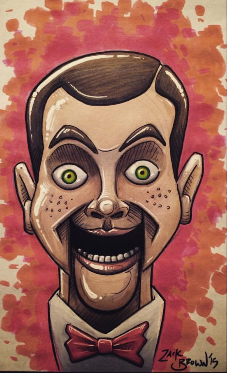 Slappy the Dummy- Goosebumps | Slappy | Drawings ...