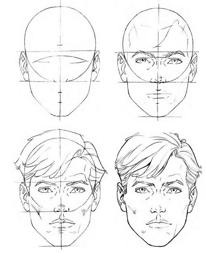 Line Art Drawing Tutorial : How to draw a face step by drawings and video