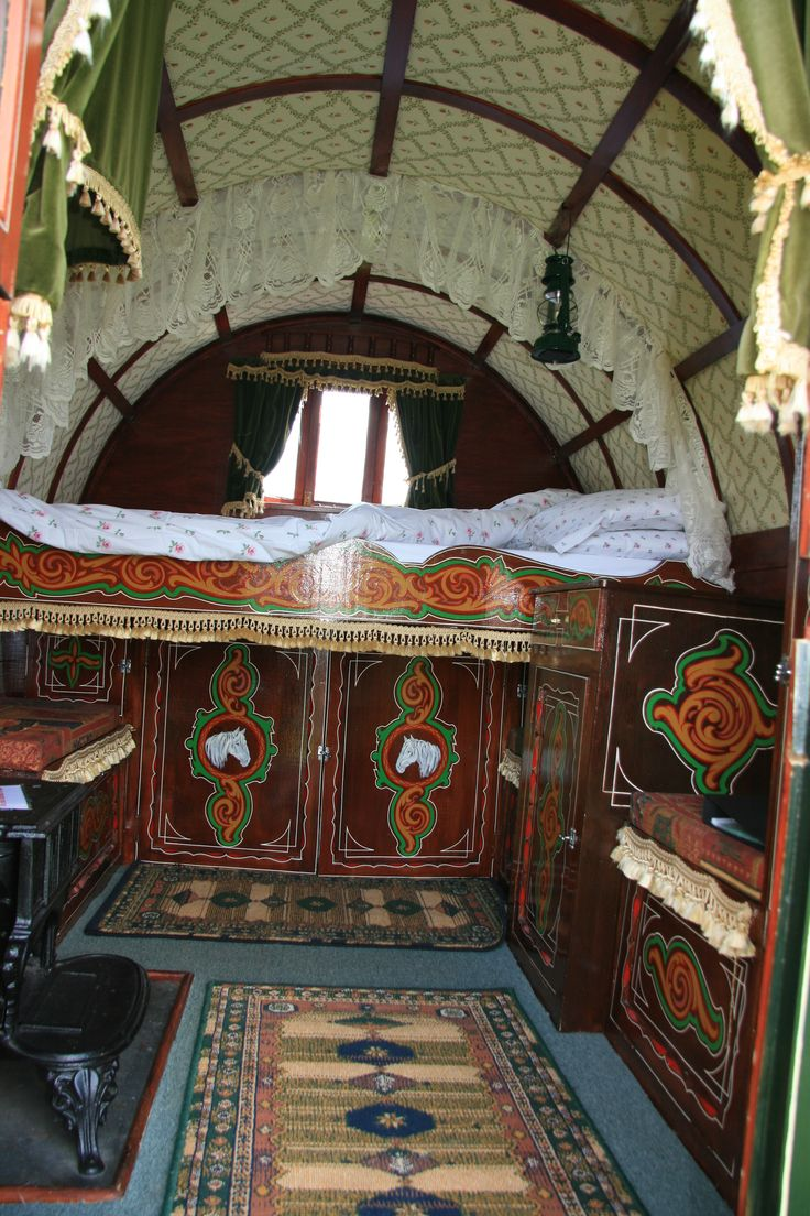 www.gypsycaravanbreaks.co.uk  Snuggle up in the cosy bed and watch the flames on the campfire flicker as you drop off to sleep in glorious peace.
