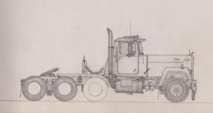 Mack Classic Truck Drawings Google Search Bobber