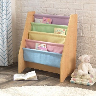 This super chic canvas sling bookshelf is perfect for young readers. Five sturdy…