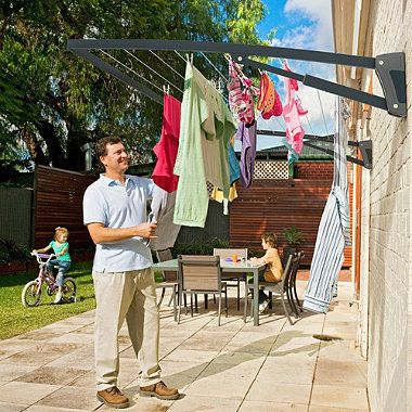 foldaway washing line- might be good for den building too!
