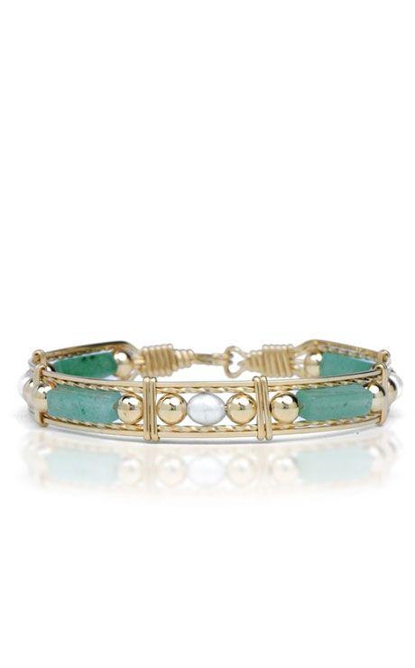 Ronaldo Jade Pearl And Gold Bead Bracelet