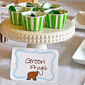 Brown Bear, Brown Bear Birthday Party  | Brown Bear Green Frogs | MyRecipes.com