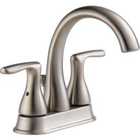 Peerless Dulcet Brushed Nickel 2-Handle 4-In Centerset Bathroom Faucet P99637lf-Bn