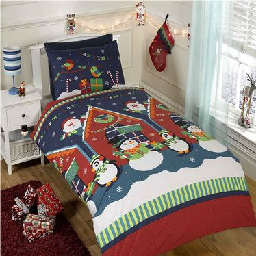 Santas Grotto Christmas Themed Double Duvet http://www.childrens-rooms.co.uk/santas-grotto-christmas-themed-double-duvet.html #santasgrotto #festivedoubleduvet #snowmenbedding