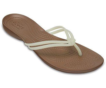 Women's Crocs Isabella Flip クロックス イザベラ フリップ ウィメン 2,678円 White / Bronze