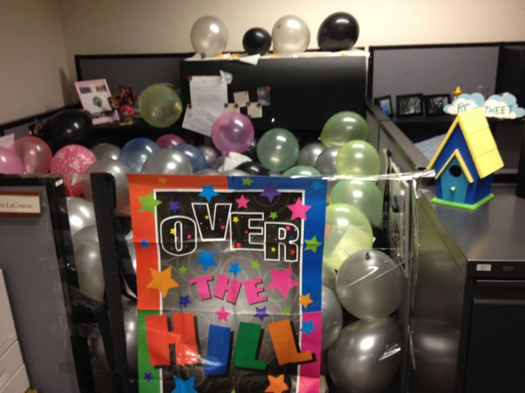 My Cubicle On My 30th Birthday. This Is What Happens When You Let Men  Decorate