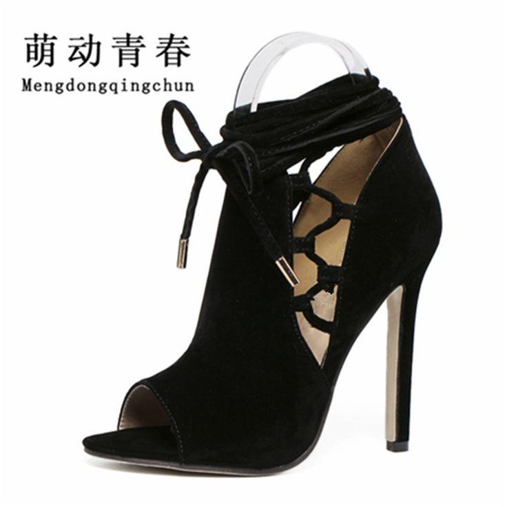 Thin High Heels Sandalen Stiletto Zip Sommer Frauen Peep Toe Pumps Schnalle Gladiator Party Kleid Plus Size Schuhe