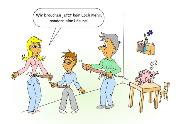 Karikatur Anfrage