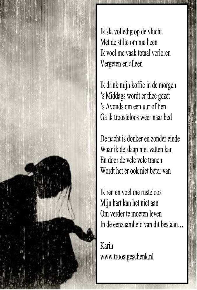 www.troostgeschenk.nl  Hoe is het toch mogelijk dat in de drukte van ons bestaan, zoveel eenzaamheid te vinden is... Dat mensen zich verloren voelen en niet meer mee kunnen en niet meer worden gezien