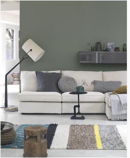 Wall color: lichen