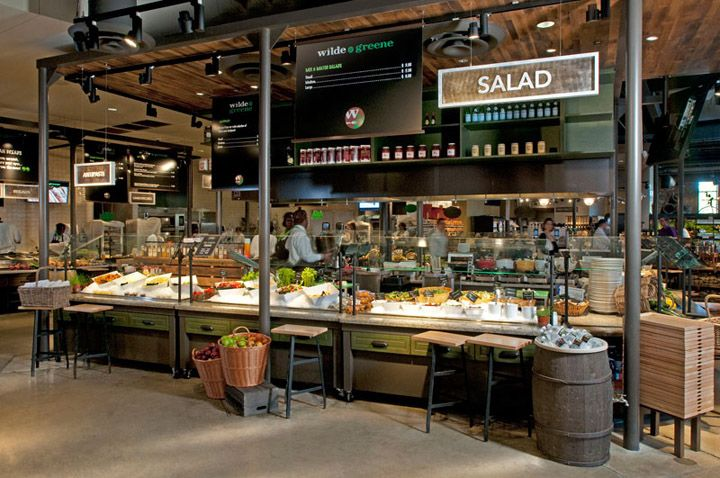 Wilde & Greene restaurant & natural market by GH+A Design, Skokie   Illinois