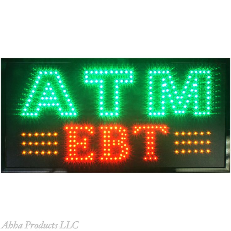"Bright 32x16"" ATM Transaction Machine EBT Food Stamps Store LED Open Sign neon #AhhaProducts"