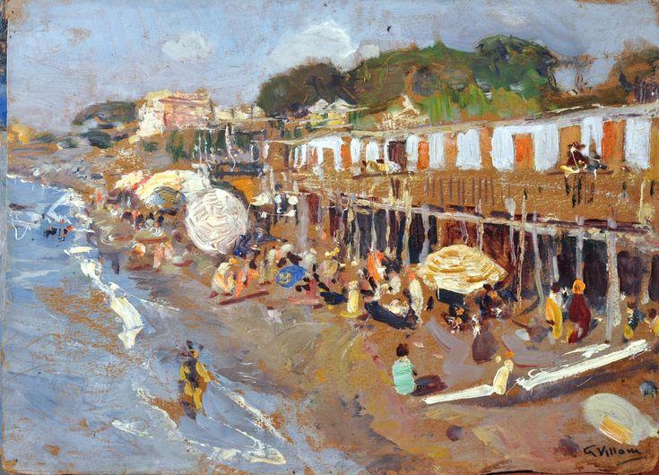 Villani Gennaro (Napoli 1885 - 1948) Spiaggia di Portici