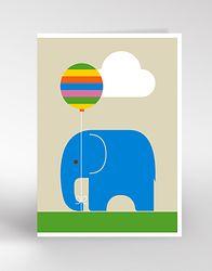 ELEPHANT & BALLOON Card