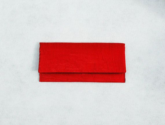 Red Clutch Bridal Clutch Evening Clutch by KwaintAccessories