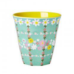 Retro Floral Melamine Cup