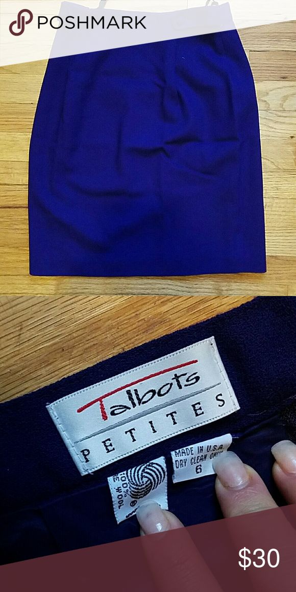 Talbots Petites Pencil Skirt size 6 Purple (picture looks more like dark blue). Perfect condition, no tags but does not look like it has ever been worn! Talbots Skirts Pencil