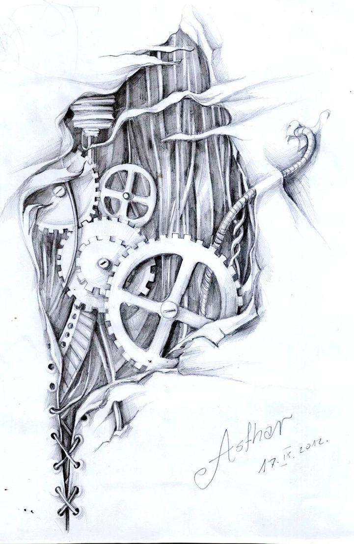 Biomechanical Tattoo Line Drawing : Biomechanical by artofasthar tattoo desİgn pinterest