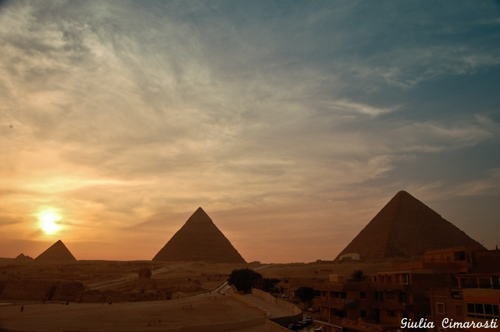 The Pyramids at Sunset - Things to do in Cairo Egypt: http://www.ytravelblog.com/cairo-egypt/