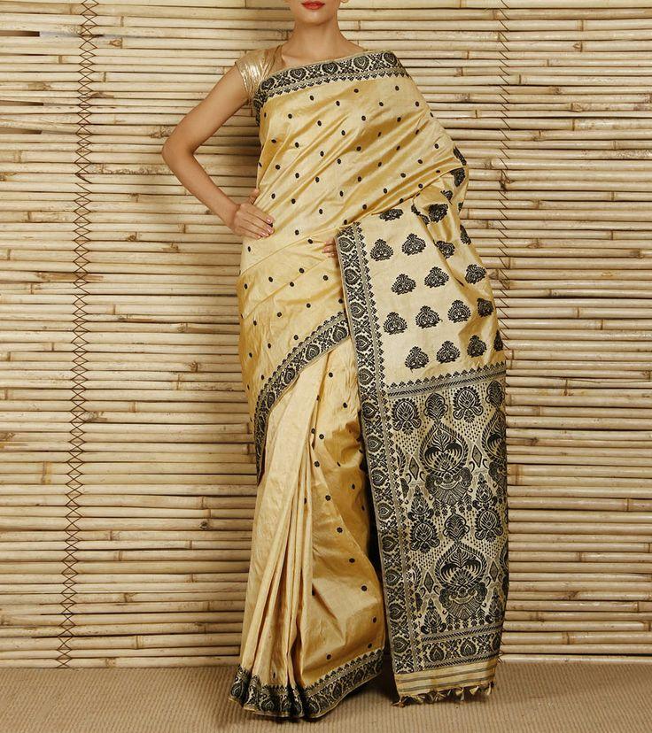 Muga Silk saree