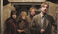 Tonks, Molly and Arthur Weasley, & Remus at The Burrow. {Harry Potter & the Half-Blood Prince}