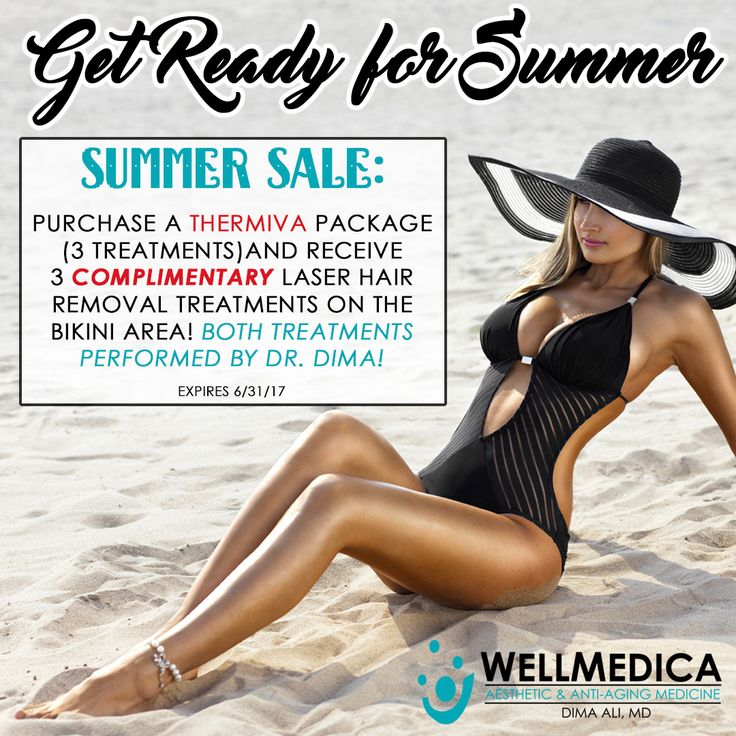 WellMedica has THE perfect #SummerSale for you! Buy a package of #ThermiVa (non-surgical vaginal rejuvenation), and receive 3 complimentary bikini laser hair removal treatments. Get yourself summer ready! Sale ends 7/31/17.  Learn more about ThermiVa here: http://wellmedica.com/treatments/laser-treatments/thermiva/  Book your WellMedica experience today! ☎️ 703.787.9866 💻
