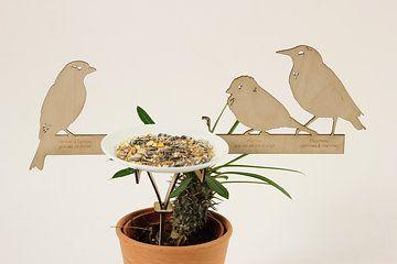 BIRDY  diy bird feeder design by JSL+MADE LASERCUT IN PLYWOOD  made with TheFabFamily