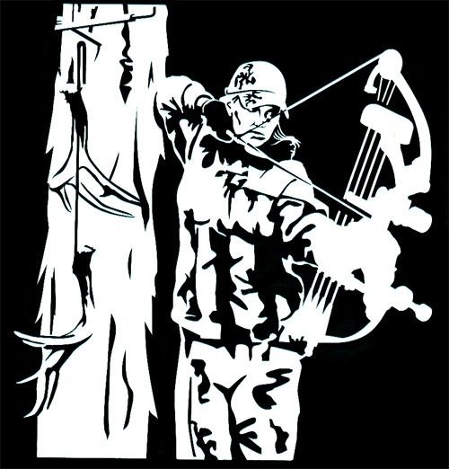 Women's Archery Hunting Window Decal -  I want this!