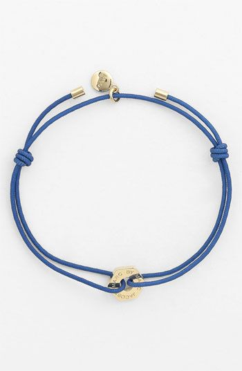 'Bolts' friendship bracelet, MARC BY MARC JACOBS available at #Nordstrom $38.00. Nylon/10k gold... comes in different cord colors