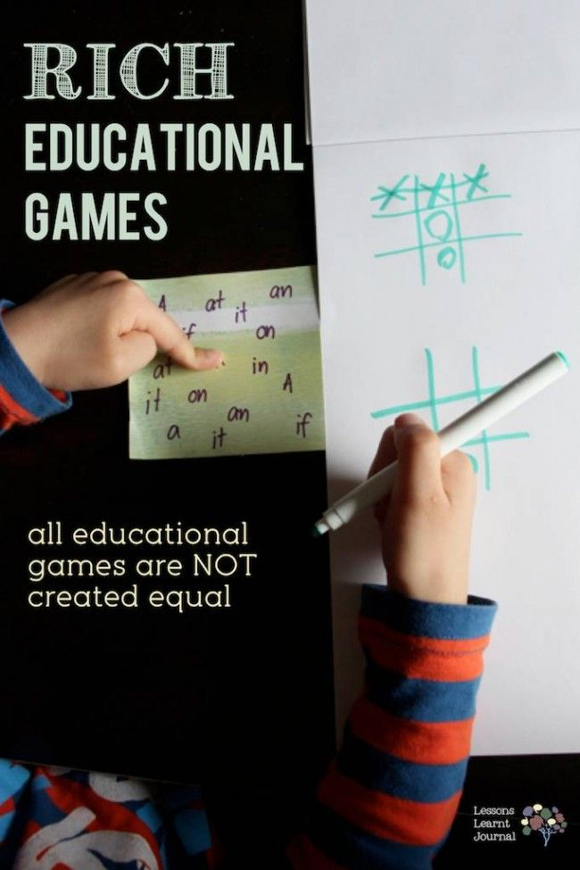 Educational Games Rich Game via Lessons Learnt Journal