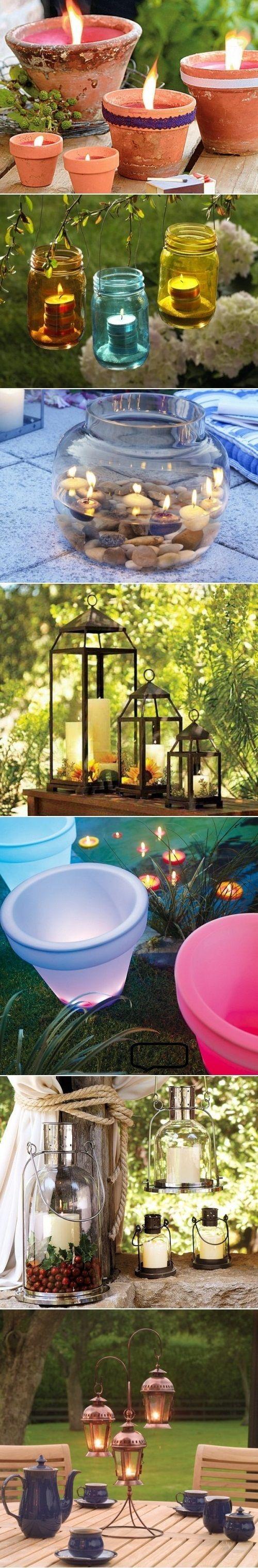 DIY Candles As Garden Lights