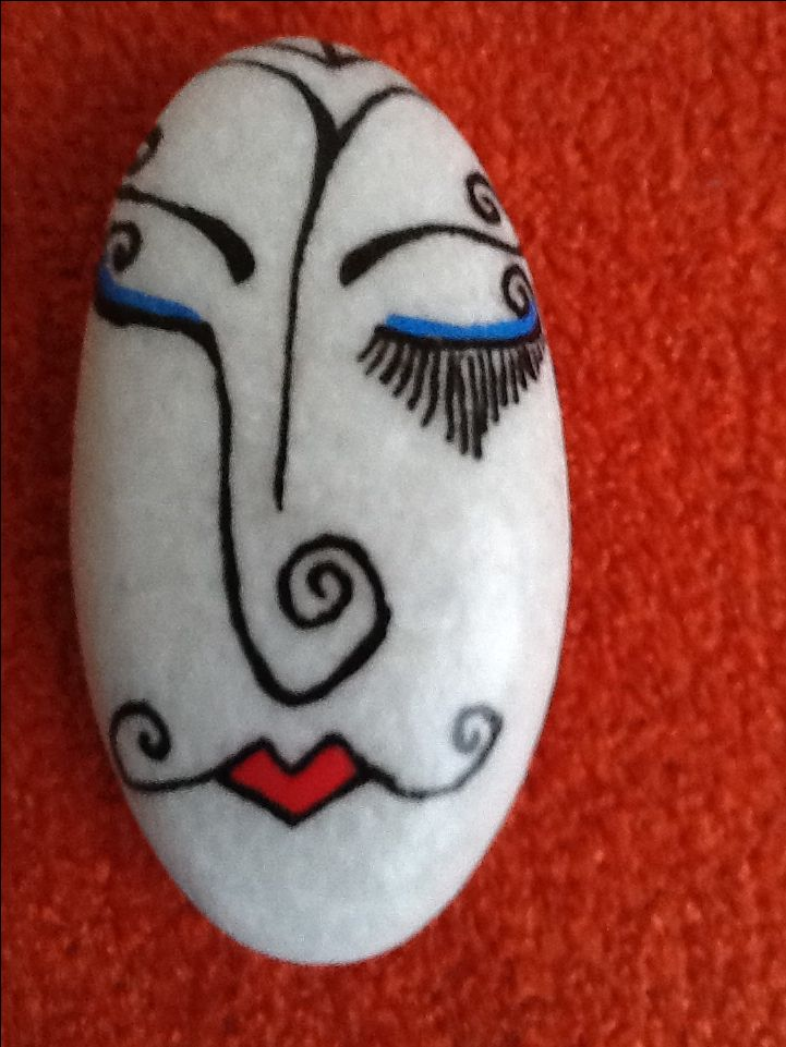 New painted stone