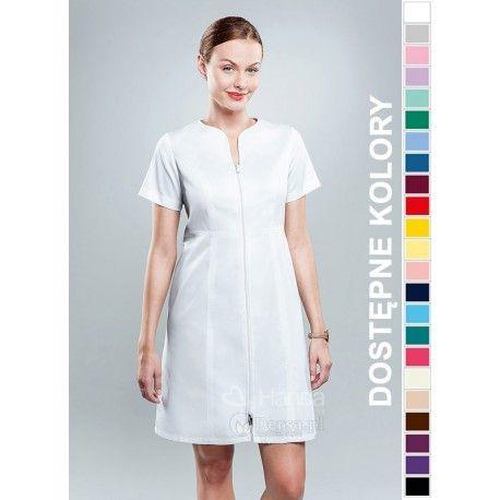 Dobrej jakości i wygodna odzież medyczna, to niezawodny atrybut każdego lekarza, pielęgniarki, czy farmaceutki. | Fartuch medyczny damski Hansa 0038. |