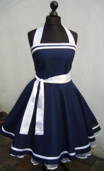 Petticoat,50er,Rockabilly,Pinup,Marine,Kleid,Dress von Historische-Kostüm-Welt auf DaWanda.com