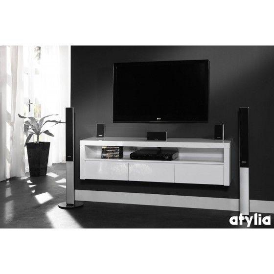 17 meilleures id es propos de meuble tv suspendu sur - Meuble tv cache fil ...