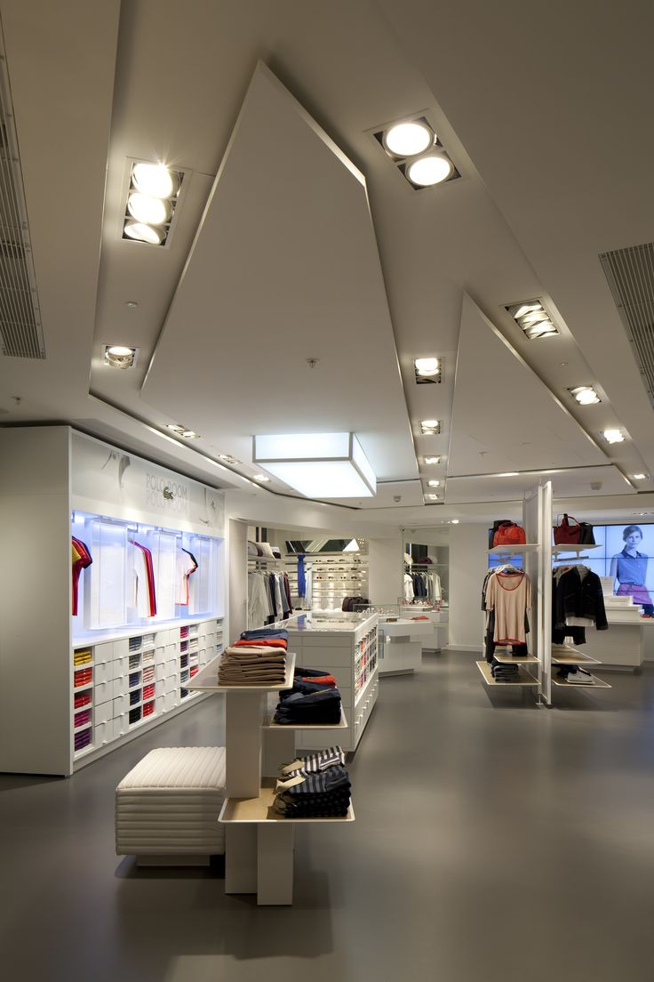 Lacoste, Knightsbridge - Archive photo of lighting design at Lacoste Flagship, London by Into Lighting and designLSM