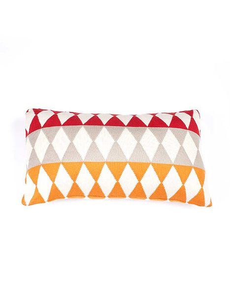 Indus Design Panel Diamond Cushion / Pillow available at Krinkle
