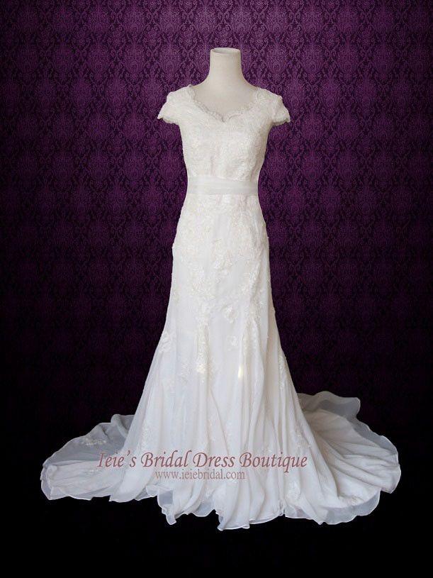 1000 ideas about mormon wedding dresses on pinterest for Elegant modest wedding dresses