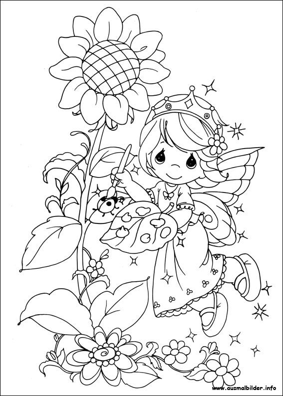042 Coloring Page For Kids And Adults From Cartoons Pages Precious Moments