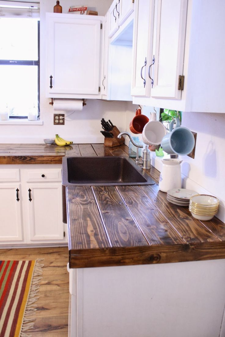cheap kitchen inexpensive kitchen remodel Cheap countertop idea More Diy Kitchen Cabinets
