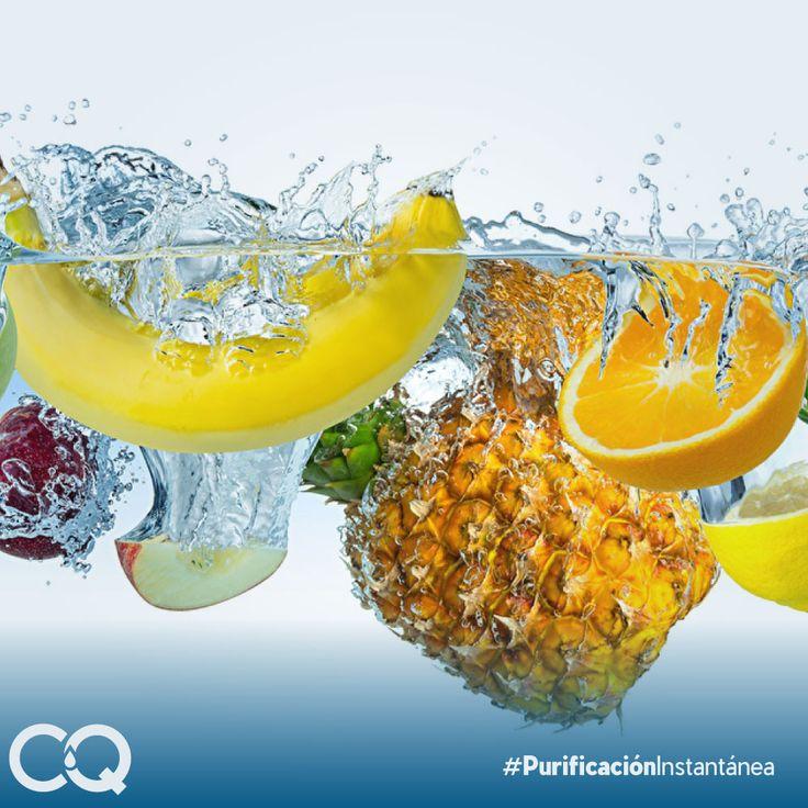 En la superficie de las frutas y verduras se concentra muy distinto tipo de suciedad y contaminación, de ahí la importancia del lavado con agua purificada. #Acquafilter #PurificaciónInstantánea